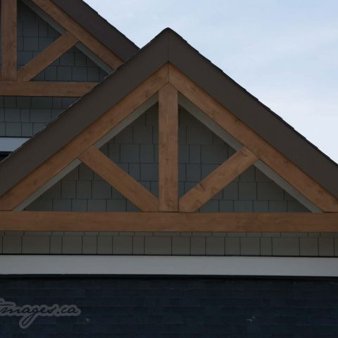 Hardie shake in gable with cedar truss viklund contracting