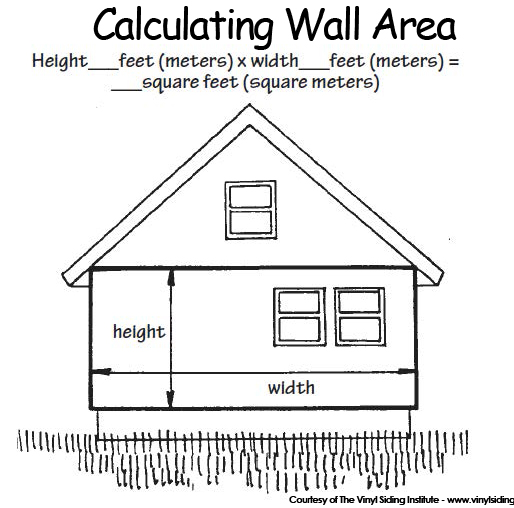 Vinyl Siding And Hardie Plank Estimate Wall Area