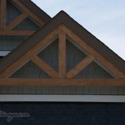 Hardie shake in gable with cedar truss viklund contracting