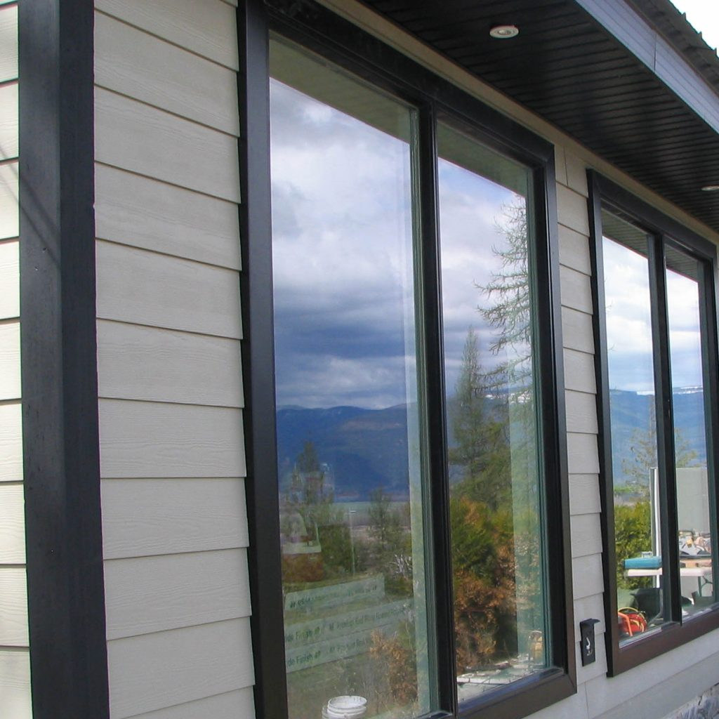 Hardi Siding with Black window trims and black corners