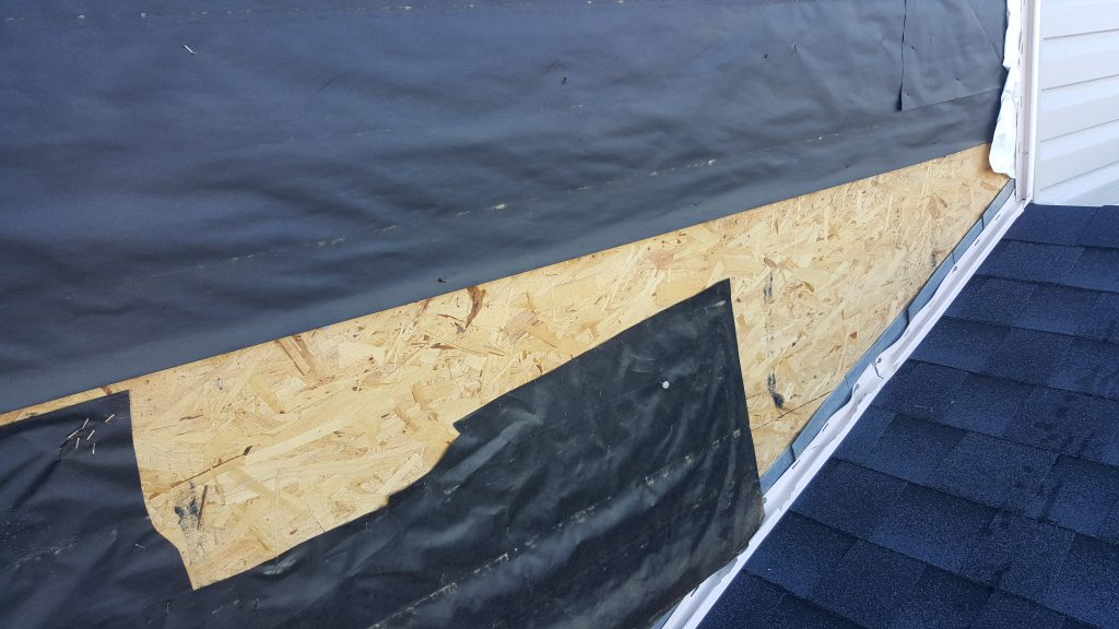 Building paper installed incorrectly in Gable