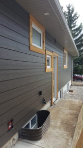 James Hardie Board New 2017 Espresso colour with cedar trims